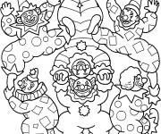 Free coloring and drawings Color Juggler Circus Coloring page