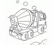 Free coloring and drawings A small concrete mixer truck Coloring page