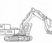 Coloring pages Bulldozer for construction work