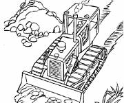 Free coloring and drawings Color bulldozer for free Coloring page