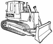 Free coloring and drawings Color mechanical shovel Coloring page