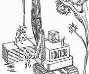 Coloring pages Coloring Backhoe