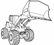 Free coloring and drawings Construction Bulldozer Coloring page