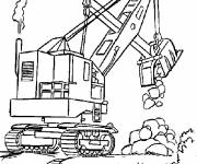 Free coloring and drawings Construction Crane Coloring page