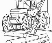 Free coloring and drawings Construction machine Coloring page