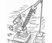 Free coloring and drawings Construction site Coloring page