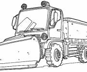 Free coloring and drawings Construction Truck Coloring page