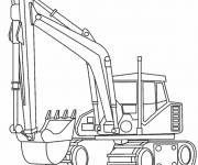 Free coloring and drawings Maternal mechanical shovel Coloring page