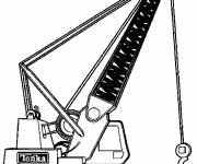 Free coloring and drawings Mechanical shovel Coloring page