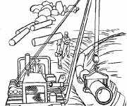 Free coloring and drawings Site Works Coloring page