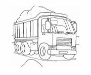 Free coloring and drawings Truck transports sand Coloring page