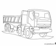 Free coloring and drawings Volvo truck Coloring page