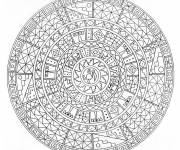 Coloring pages Adult animal mandala for adult