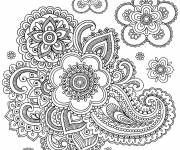Coloring pages Adult Anti-Stress with flowers