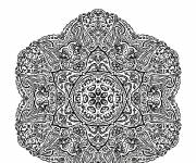 Coloring pages Adult Art Mandala in Pencil