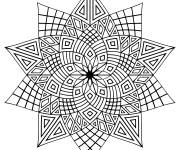 Coloring pages Adult Difficult Stars