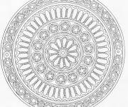 Coloring pages Adult Mandala to download