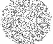 Coloring pages Adult Stylized Mandala to color