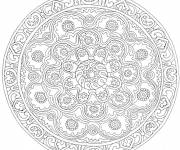 Coloring pages Decorated Flowers Mandala