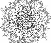 Coloring pages Difficult Flame Mandala