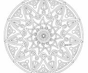 Coloring pages Easy adult mandala