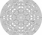 Coloring pages Mandala Difficult to do