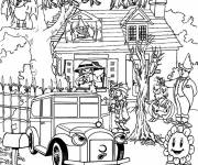 Coloring pages Adult Halloween Difficult