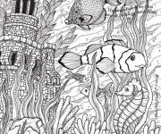Coloring pages Adult seabed