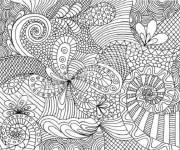 Coloring pages Difficult beautiful mandala