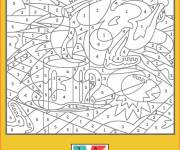 Coloring pages Difficult numbered for children