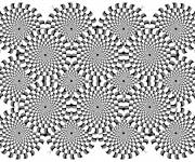 Coloring pages Optical illusion Adult
