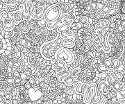 Coloring pages very difficult for adults