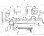 Coloring pages Color dining room