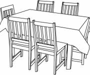 Coloring pages Dining room table online