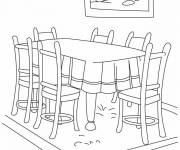Coloring pages Dining room to color