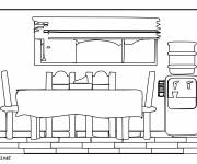Coloring pages Dining room to cut out