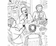 Coloring pages Eat maternal