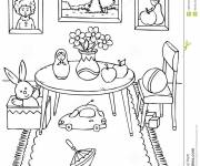 Coloring pages Nice dining room