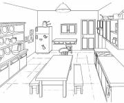 Coloring pages Online kitchen model