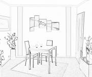 Coloring pages Picture of Dining room