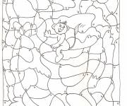 Coloring pages Magic by Number for children