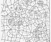 Coloring pages Magic Number Drawing to print