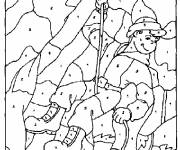 Coloring pages Number Drawing to Cut