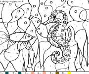 Coloring pages Numbered seabed