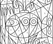 Coloring pages Seabed with Number to decorate