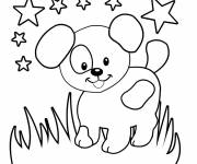 Coloring pages Dog under the Stars