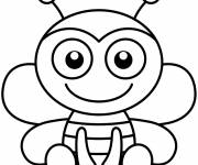 Coloring pages Easy bee
