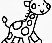 Coloring pages Easy Giraffe