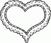 Coloring pages Easy heart