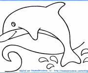 Coloring pages Easy jumping dolphins